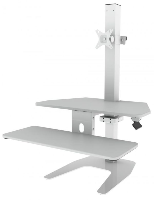 CMS dual screen sit stand station