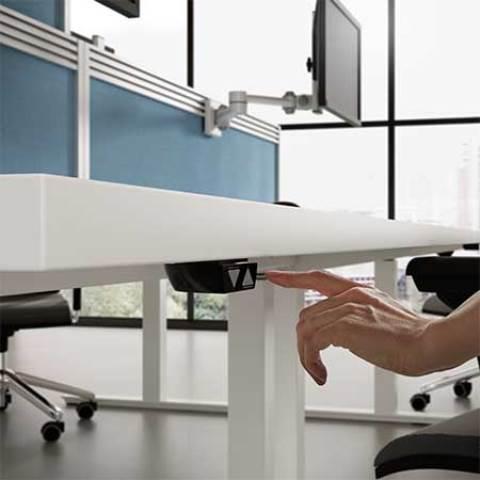 React height adjustable desk
