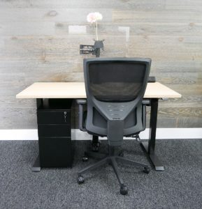 Height adjustable home office desk