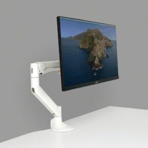 Easy to adjust single monitor arm